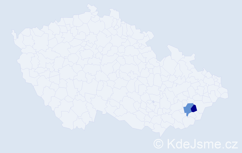Příjmení: 'Dronková', počet výskytů 9 v celé ČR