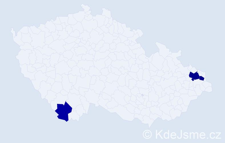 Příjmení: 'Fellegiová', počet výskytů 8 v celé ČR