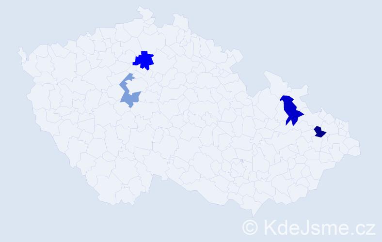 Příjmení: 'Jakabovičová', počet výskytů 14 v celé ČR