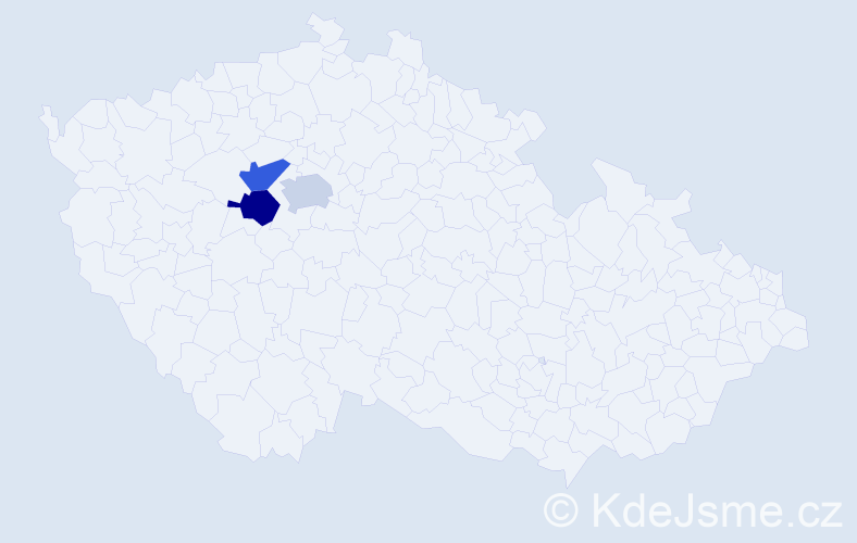 Příjmení: 'Kobilka', počet výskytů 3 v celé ČR