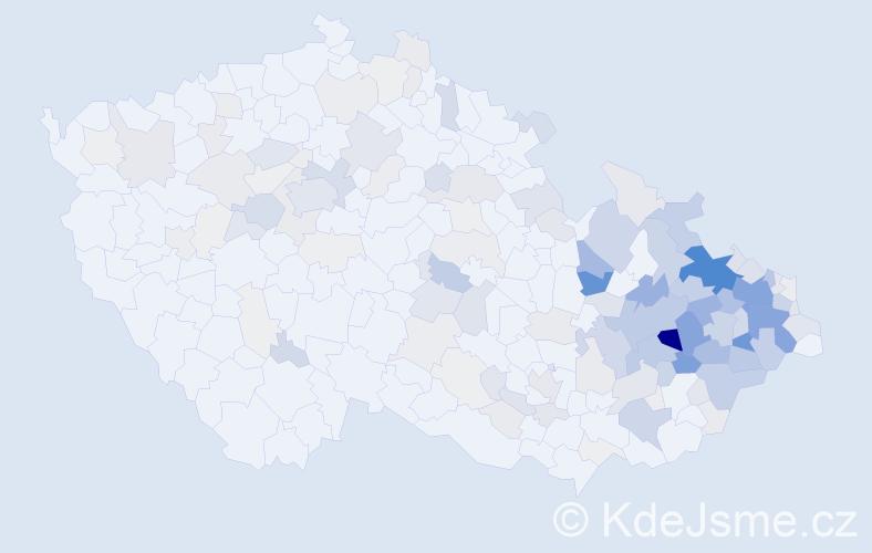 Příjmení: 'Grygarová', počet výskytů 777 v celé ČR