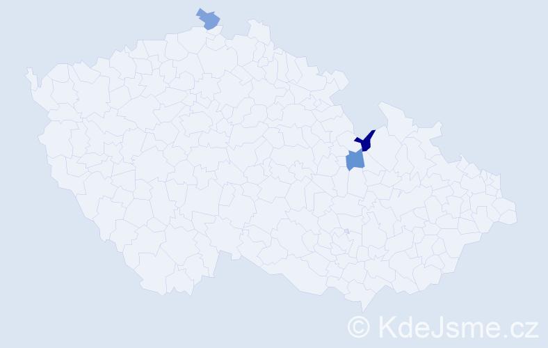 Příjmení: 'Ďurovská', počet výskytů 3 v celé ČR