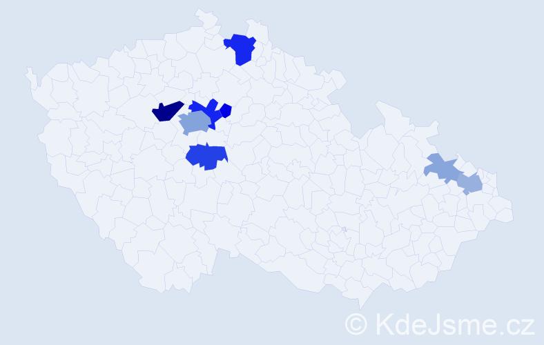 Příjmení: 'Kofláková', počet výskytů 27 v celé ČR