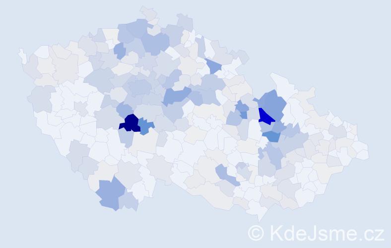 Příjmení: 'Doubravová', počet výskytů 1025 v celé ČR
