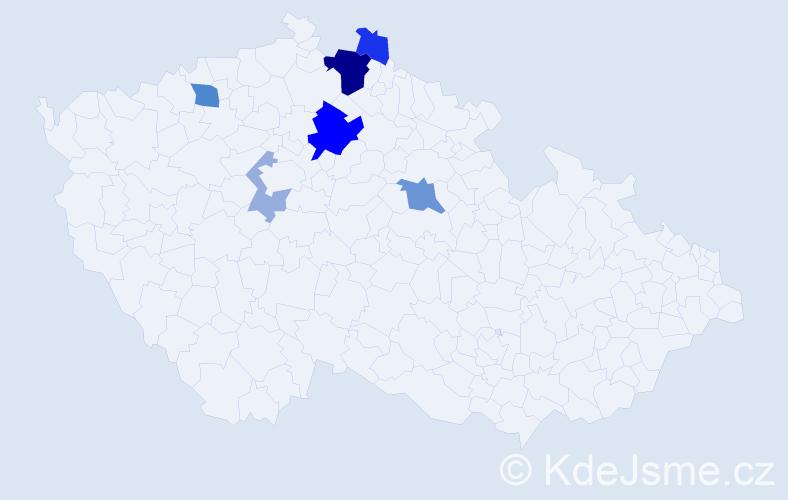 Příjmení: 'Fol', počet výskytů 16 v celé ČR