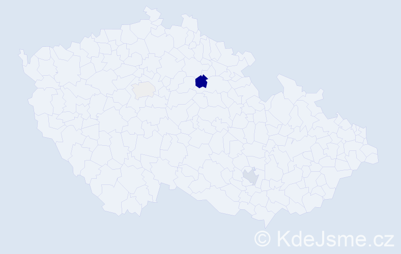 Příjmení: 'Božič', počet výskytů 6 v celé ČR