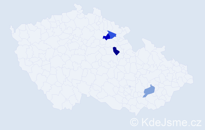 Příjmení: 'Goniecová', počet výskytů 4 v celé ČR