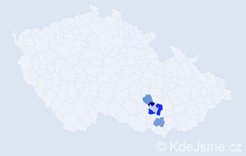 Příjmení: 'Inek', počet výskytů 10 v celé ČR