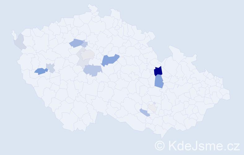 Příjmení: 'Černušák', počet výskytů 33 v celé ČR