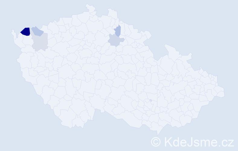 Příjmení: 'Lehrer', počet výskytů 8 v celé ČR