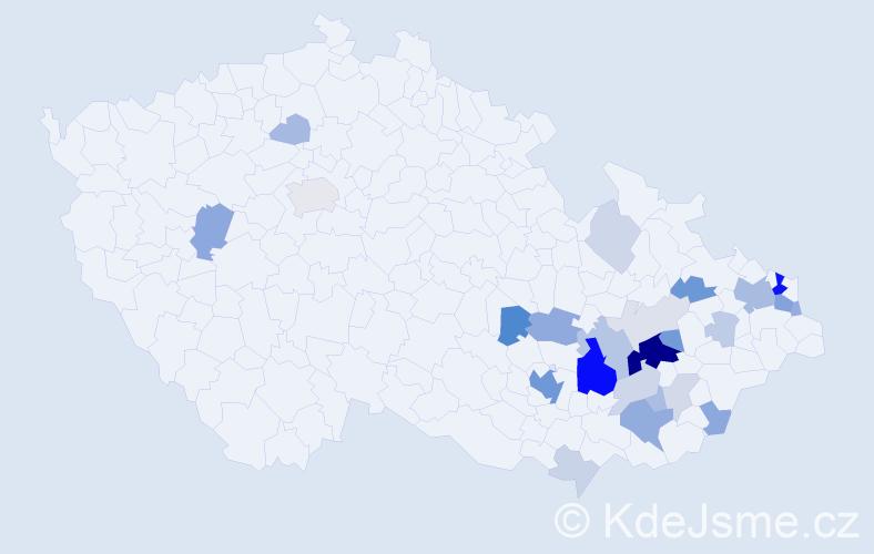 Příjmení: 'Čelechovský', počet výskytů 82 v celé ČR