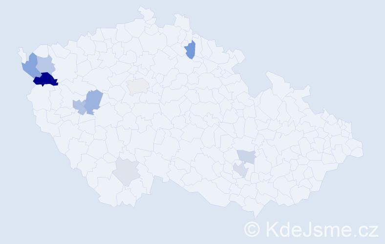 Příjmení: 'Brill', počet výskytů 26 v celé ČR