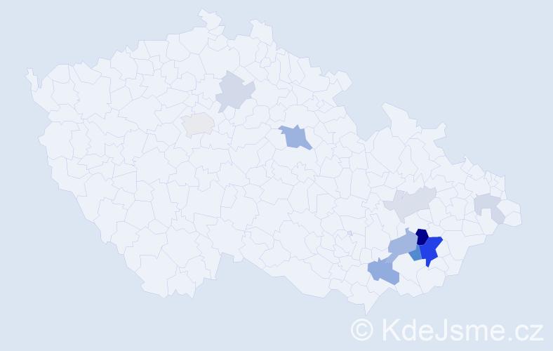 Příjmení: 'Kulenda', počet výskytů 29 v celé ČR