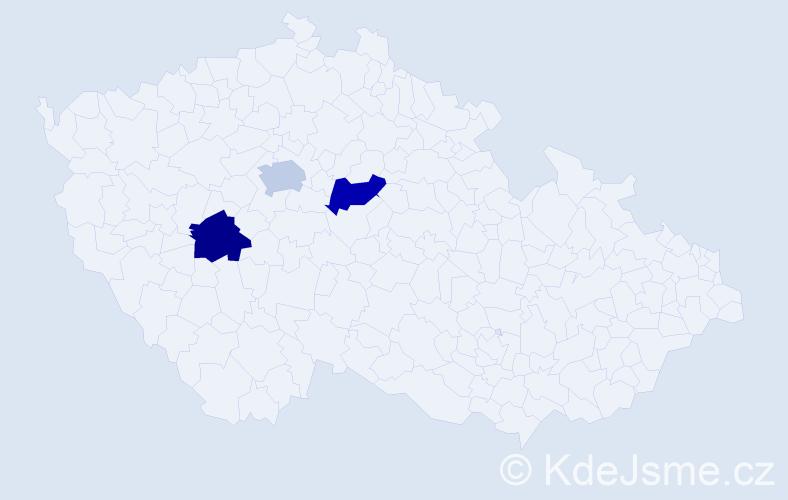 Příjmení: 'Flamme', počet výskytů 3 v celé ČR