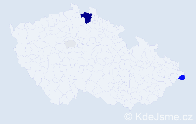 Příjmení: 'Federičová', počet výskytů 8 v celé ČR