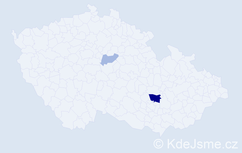 Příjmení: 'Bábindeliová', počet výskytů 6 v celé ČR