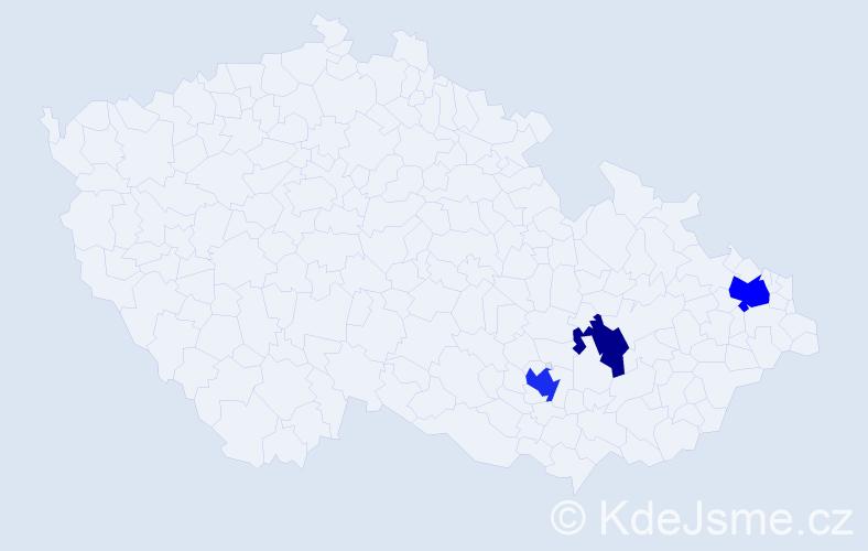 Příjmení: 'Kolařová', počet výskytů 5 v celé ČR