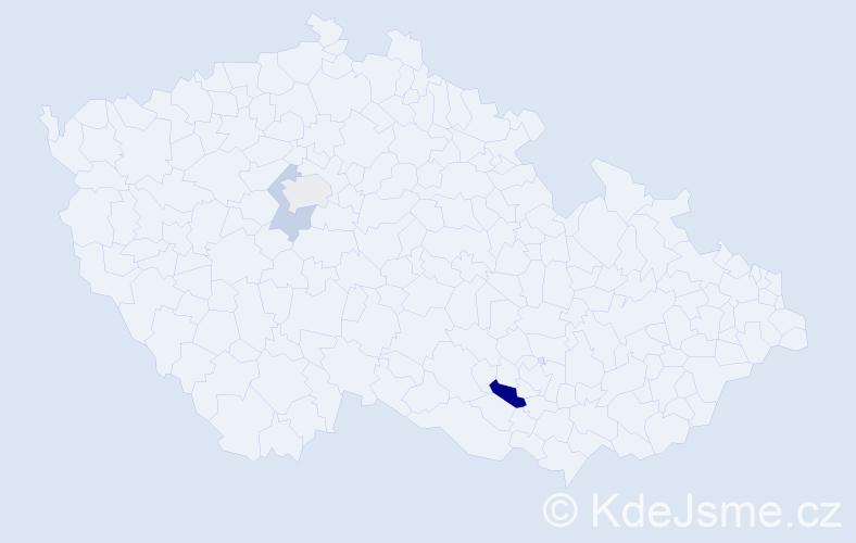 Příjmení: 'Abdennebi', počet výskytů 5 v celé ČR