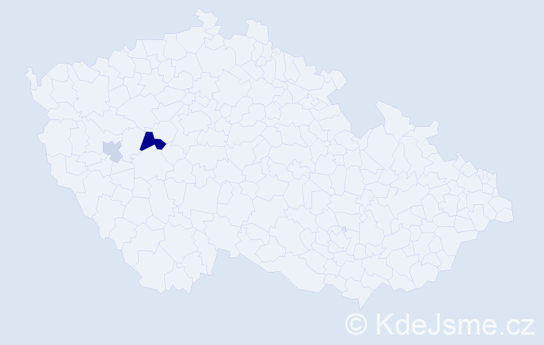 Příjmení: 'Kruft', počet výskytů 4 v celé ČR