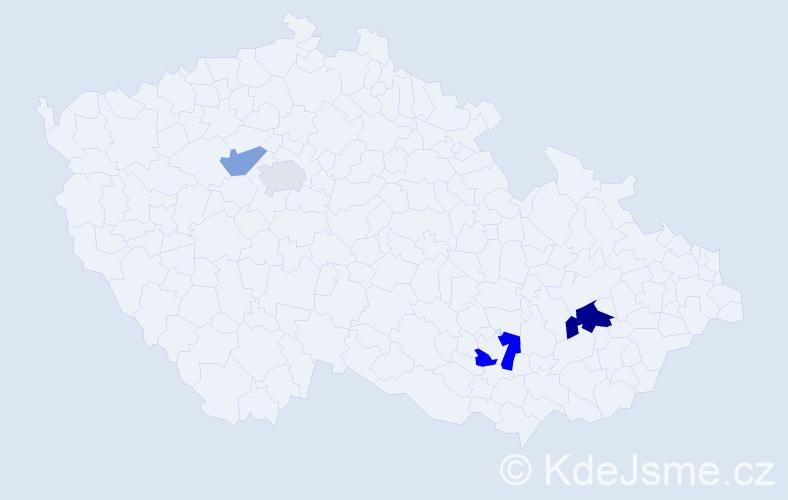 Příjmení: 'Golha', počet výskytů 7 v celé ČR