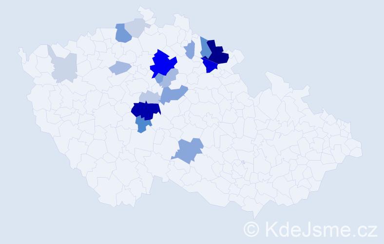 Příjmení: 'Ikri', počet výskytů 57 v celé ČR