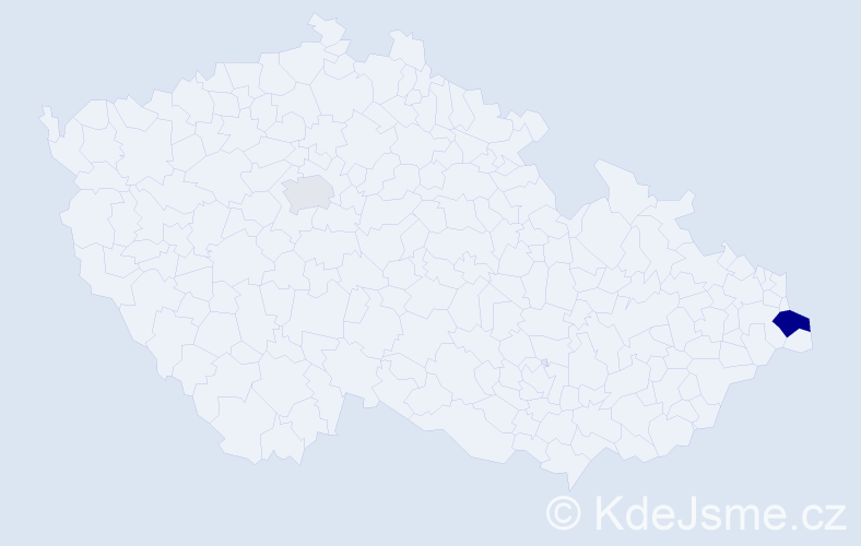 Příjmení: 'Espada', počet výskytů 4 v celé ČR