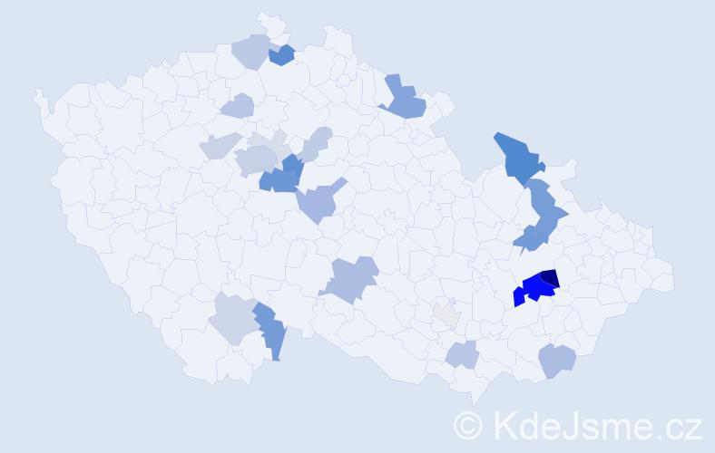 Příjmení: 'Lanč', počet výskytů 78 v celé ČR