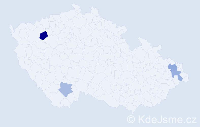 Příjmení: 'Gargaš', počet výskytů 11 v celé ČR