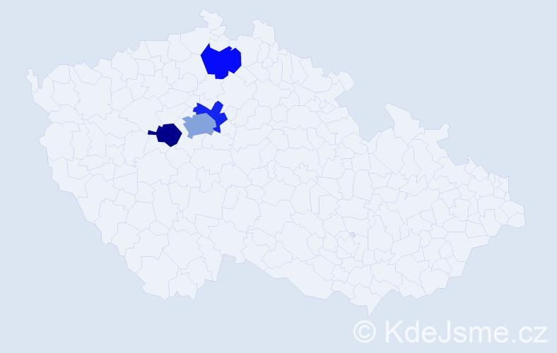 Příjmení: 'Fabianek', počet výskytů 6 v celé ČR