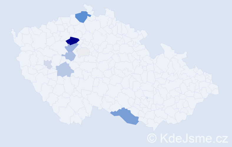Příjmení: 'Grobová', počet výskytů 18 v celé ČR