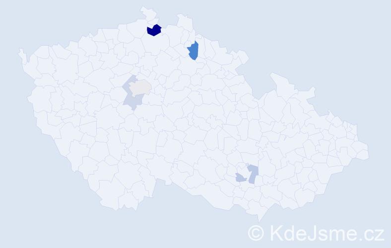 Příjmení: 'Eisenberger', počet výskytů 10 v celé ČR