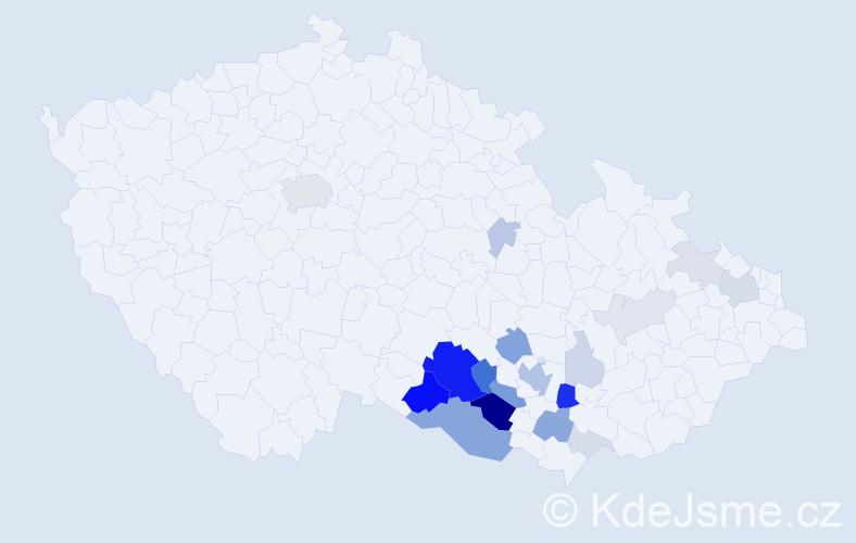 Příjmení: 'Branč', počet výskytů 63 v celé ČR