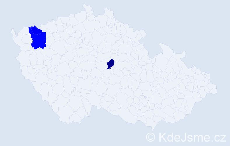 Příjmení: 'Koenigstein', počet výskytů 9 v celé ČR