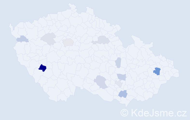 Příjmení: 'Cabanová', počet výskytů 32 v celé ČR
