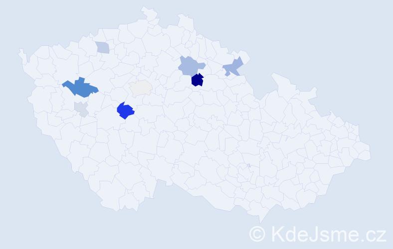 Příjmení: 'Eremiašová', počet výskytů 22 v celé ČR