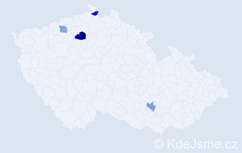 Příjmení: 'Gigliolini', počet výskytů 8 v celé ČR