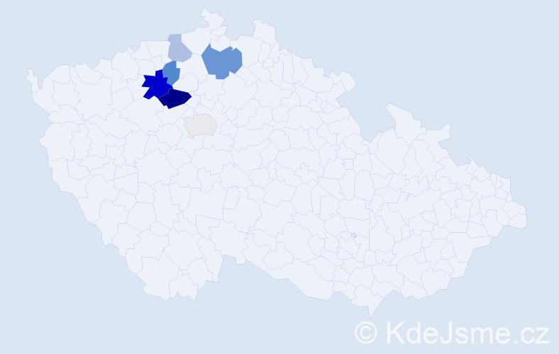 Příjmení: 'Kartesová', počet výskytů 11 v celé ČR