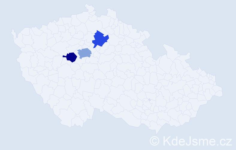 Příjmení: 'Erazimová', počet výskytů 5 v celé ČR