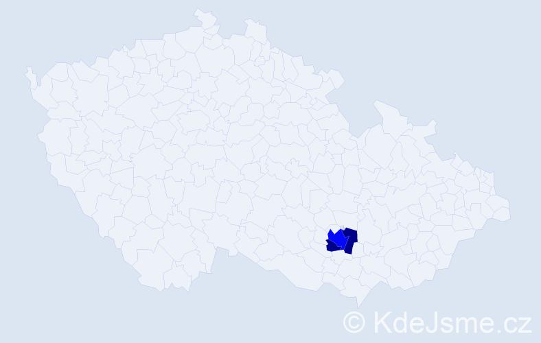 Příjmení: 'Čaluba', počet výskytů 4 v celé ČR