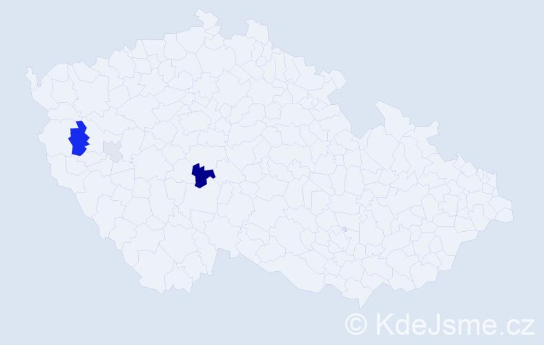 Příjmení: 'Feistinger', počet výskytů 7 v celé ČR