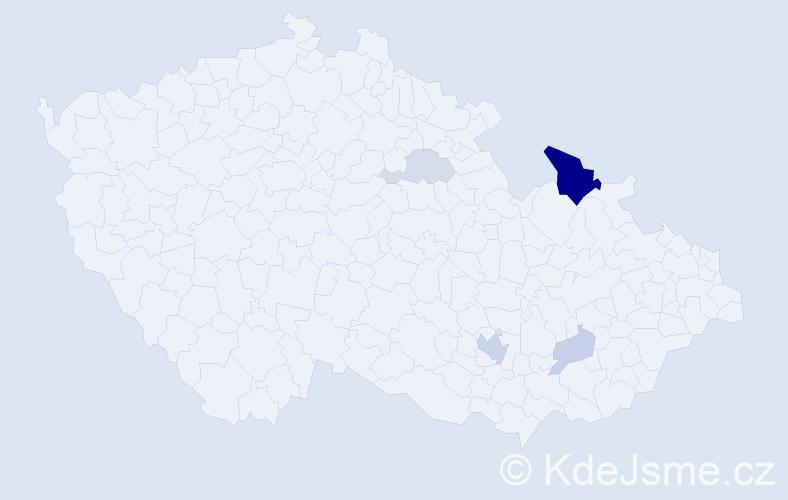 Příjmení: 'Černěnková', počet výskytů 12 v celé ČR