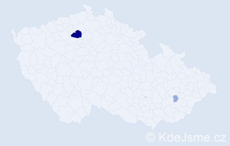 Příjmení: 'Ercoli', počet výskytů 9 v celé ČR