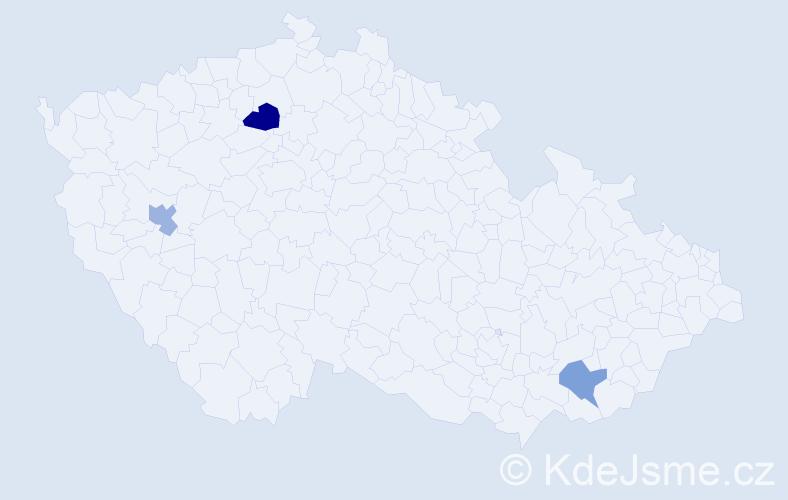 Příjmení: 'Jančařová', počet výskytů 7 v celé ČR