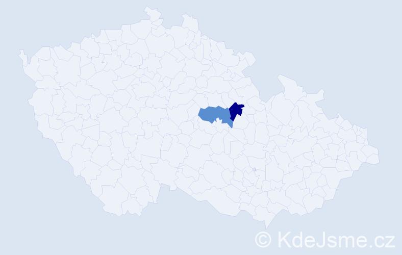 Příjmení: 'Blatling', počet výskytů 2 v celé ČR
