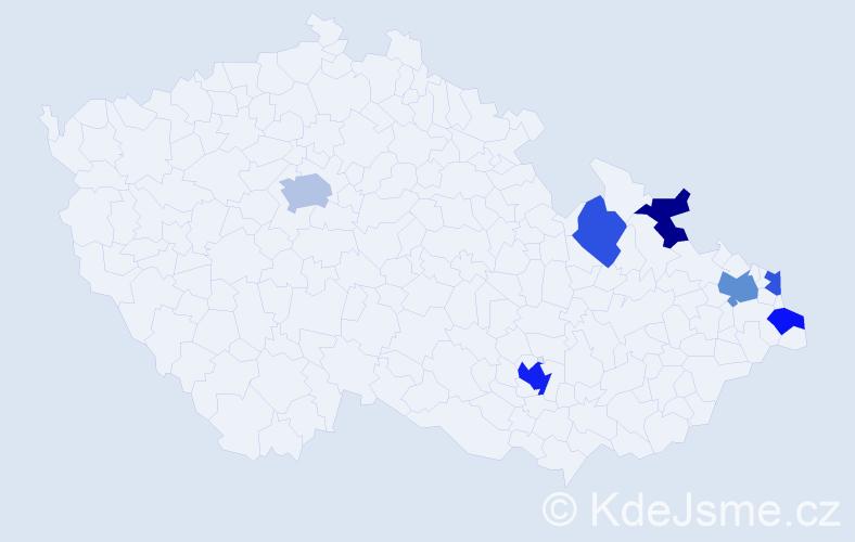 Příjmení: 'Eftimiadisová', počet výskytů 12 v celé ČR