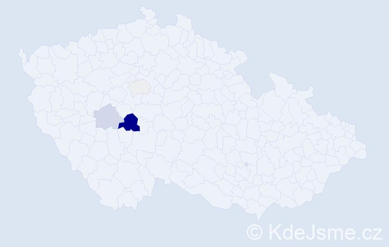Příjmení: 'Grin', počet výskytů 7 v celé ČR