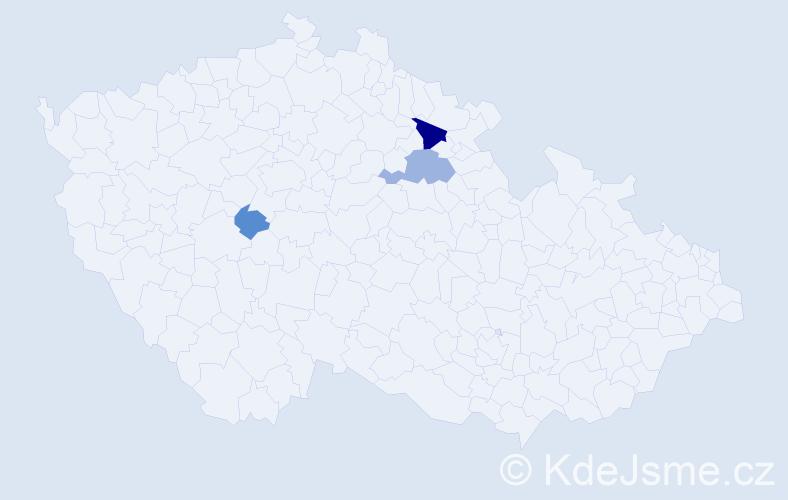 Příjmení: 'Laulová', počet výskytů 6 v celé ČR