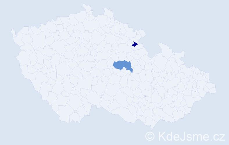 Příjmení: 'Krätzlová', počet výskytů 3 v celé ČR