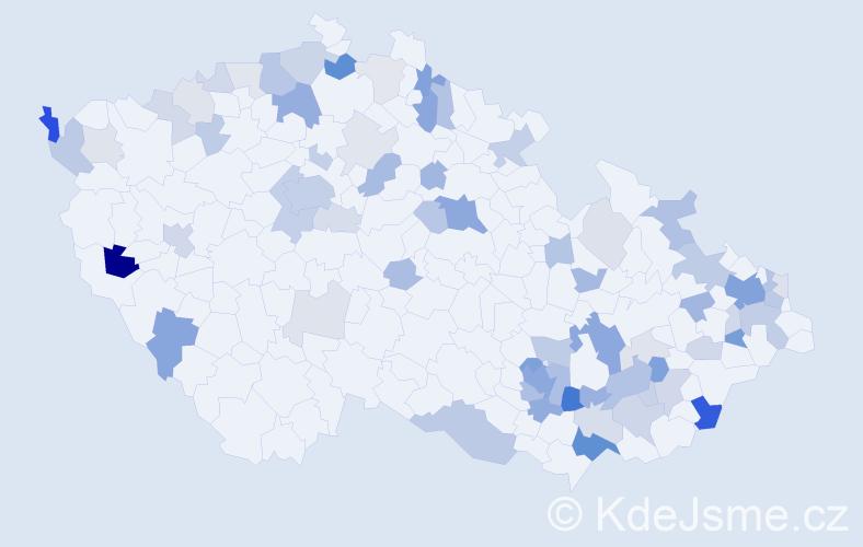 Příjmení: 'Bartová', počet výskytů 191 v celé ČR