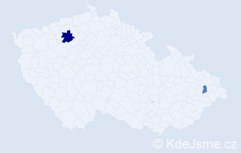 Příjmení: 'Černyšová', počet výskytů 3 v celé ČR